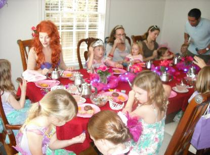 Ariel From The Little Mermaid Tea Party At A Princess Birthday In Houston