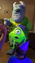 Sully from Monsters Inc. is available for your mascot birthday party fun in Houston.