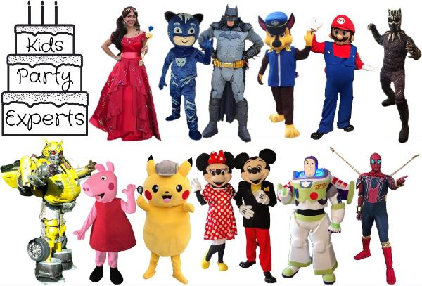 Hire a party character for your child's birthday party in Houston whether you need a mascot, a princess, or a superhero. All characters come with great costumes & games.