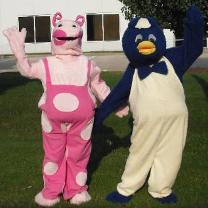 Rental costumed character mascots that are a blast from the past for your child's birthday celebration.