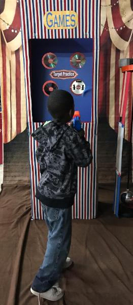 How is your aim? Show us your stuff when we do the circus carnival birthday party in the Houston area. We do parties right, book your circus party today.