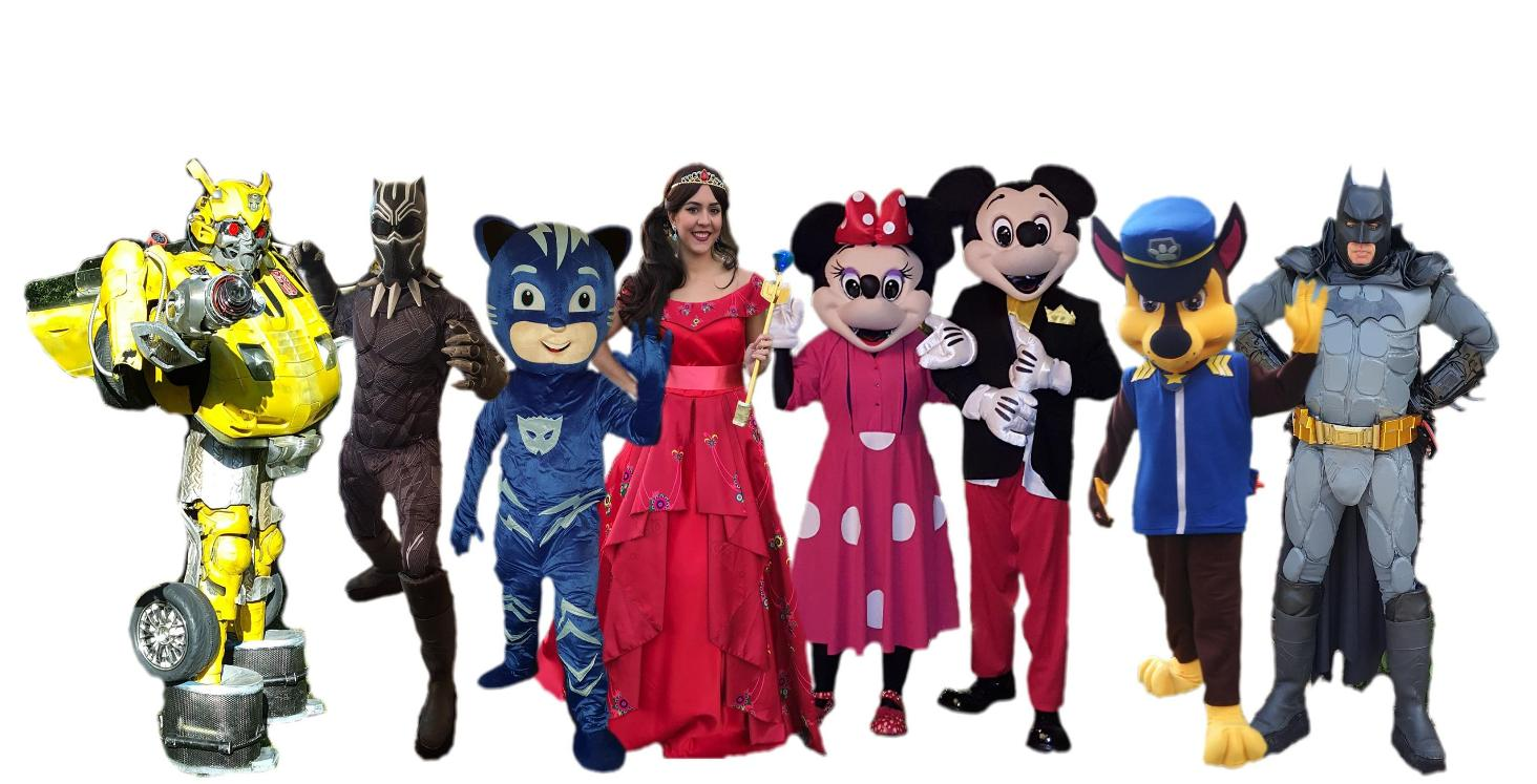 Houston costumed characters for birthday party entertainment. Hire a party character for your Superhero party in Houston. Rent a costumed character mascot for your child's next Birthday party event. Book a party costumed character princess for your little girl's birthday party. Our face painting & balloon animal packages are perfect for Houston birthday parties, Houston corporate events, Houston grand openings, Houston weddings, Houston baby showers,& any time you need something fun & affordable for your family and business events.