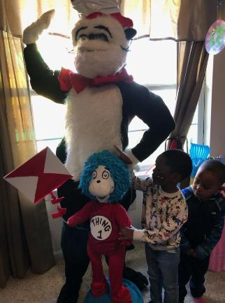 Hire this mascot costumed characters for your Houston birthday party for children. The thing 1 comes with the character when your rent the 1 hour party.
