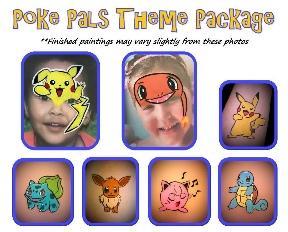 Full Face Painting Cheek Art Balloon Animals Games