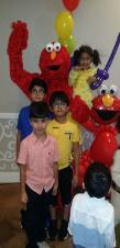 Rent elmo for a mascot birthday party in Sugarland, Texas.