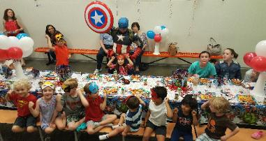 Wonder wild has a great venue for hosting awesome super hero birthday parties with cool games and props, and costumes.