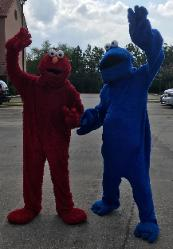 Rent 2 mascot costumed characters for your child's birthday party entertainment in Humble.