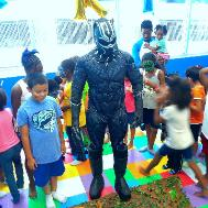 Rent our padody of Black Panther for your next birthday party in Houston.