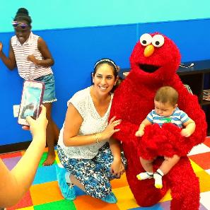 Rent this fun loving red monster for your childs next birthdat party in Houston.