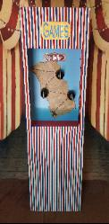Houston circus games now include as 1 of our 8 carnival games is the pirate hook ring toss for birthday parties.