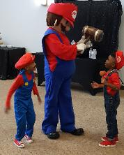 Hire a mascot costumed character for your super mario brothers birthday party in Houston, Texas.