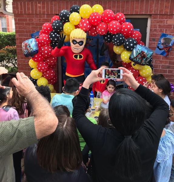 Rent this mascot superhero birthday party costumed character for your kid's special event with cool games & awesome phot props.