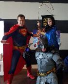 Rent these superheroes for the best costumed character birthday parties in Houston. They are ready for action to superhero train with awesomw props, games, and pictures.