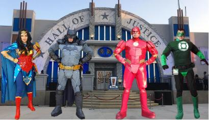 Hire these superhero costumed characters ( Justice League, Wonder Woman, Batman, The Flash, Green Lantern) for your mascot birthday party in Houston, Texas.