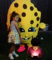 Rent kooie cookie foe a mascot party in almeda genoa are in Houston, texas.