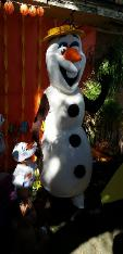 olaf mascot party for kid's birthdays
