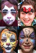 full face painting in houston, facepainting in houston, houston clown, balloon animals in houston, balloon art in houston