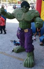 Hire our Hulk super hero mascot costumed character for your birthday in Houston, Texas.