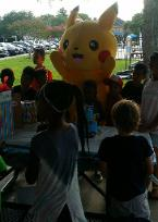 Pikachu rental mascot party in League City, texas.