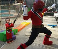 Power Ranger superhero party in Houston, Texas pose for awesome photo prop pictures.
