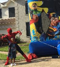 Houston superheroes to save your birthday party from boredom. We bring great games and props.