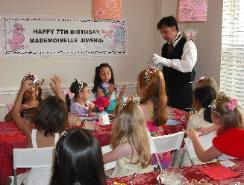Tea Party with a butler in Houston, Texas.