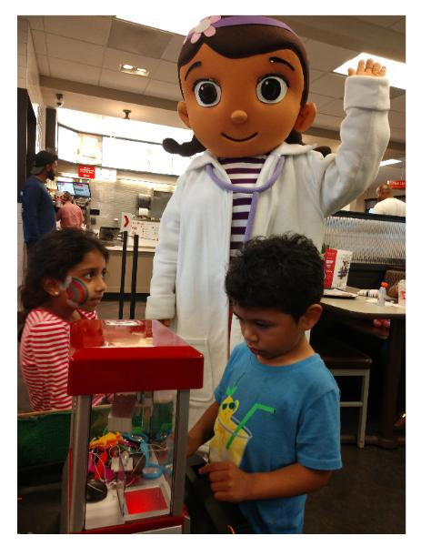 Rent the toy doctor mascot party character for great games & fun for children's birthday parties.