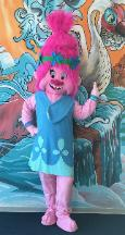 Have our Troll princess mascot in Houston at your birthday parties for your kids and their friends for fun memories.
