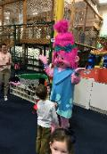 Hire our troll princess mascot costumed characters in Houston to perform at your little princesses birthday party fun including theme related games and activities.