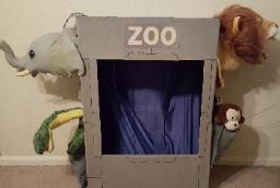 This awesome zoo prop is available for rent at your childs birthday party in Houston.